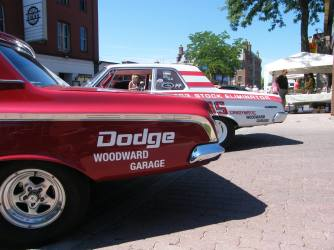 Mopar stock cars in Amherstburg, Ontario