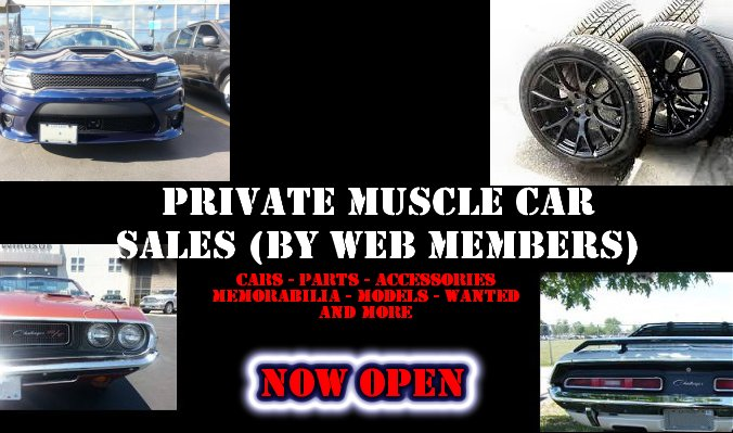 private muscle car sales by web members mister mopar